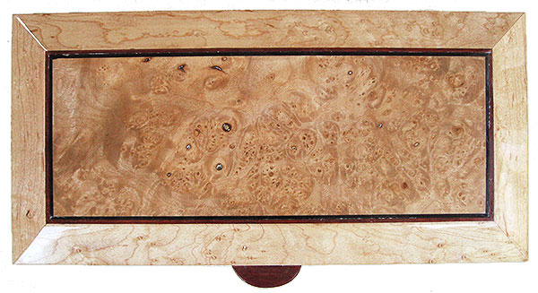 Maple burl center piece framed in birds eye maple - Handmade decorative wood keepsake box