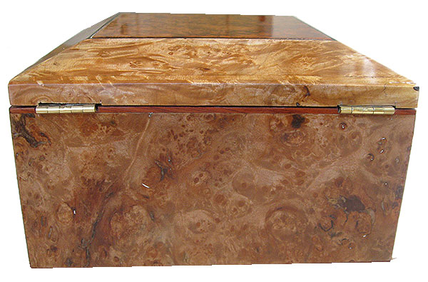 Maple burl box back - Handmade wood decorative keepsake box