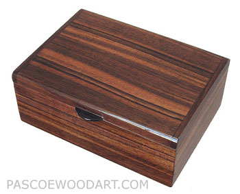 Handmade wood decorative keepsake box made of Asian ebony