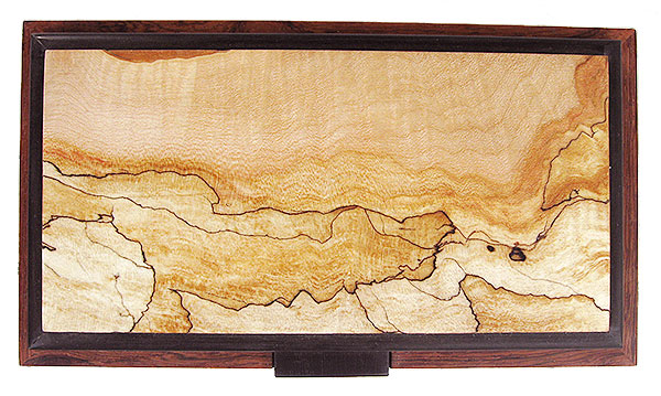Spalted maple box top - Handcrafted decorative wood keepsake box