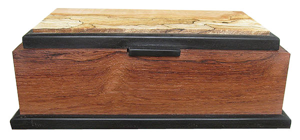 Honduras rosewood box front view - Handcrafted decorative wood keepsake box