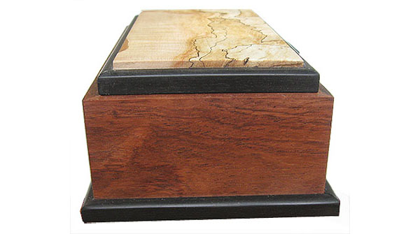Handcrafted wood box Honduras rosewood side view - Decorative wood deeksape box