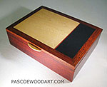 Handmade wood small keepsake box