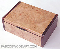 Handmade wood keepsake box or photo box