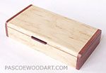 Decorative wood desktop box
