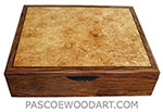 Handcrafted men's box - Men's valet box, keepsake box made of Honduras Rosewood, bleached maple burl