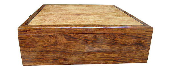 Honduras rosewood box side - Handcrafted wood mens' valet box, keepsake box