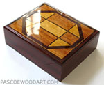 Handmade wood man's valet box made of cocobolo with golden Ceylon satinwood