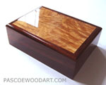 Cocobolo man's valet - handmade keepsake box for man