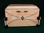CD storage box - Mansard - Curly birch box