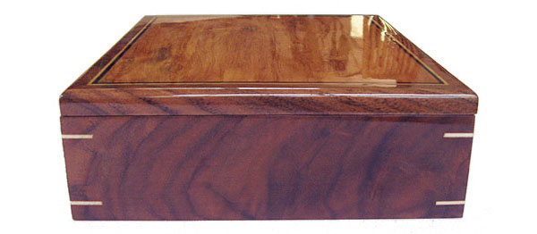 Decorative wood valet box - side view