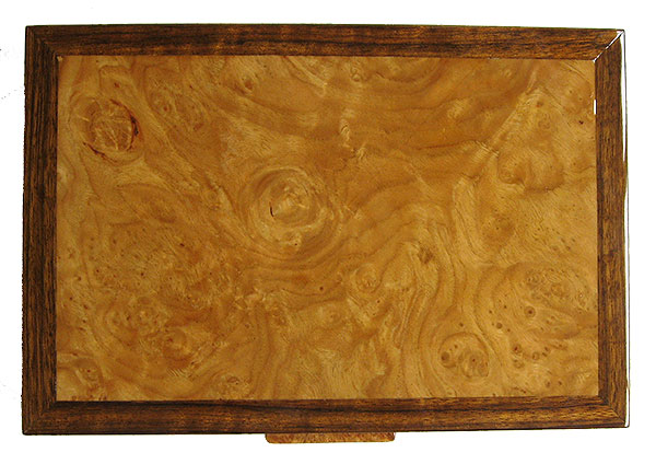 Chesnut burl valet box top - Handcrafted shedua wood box