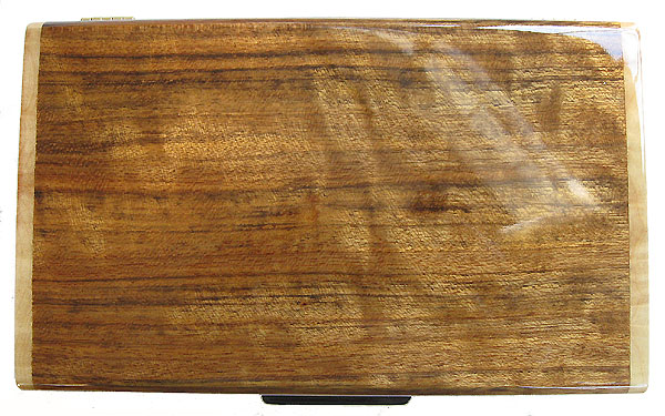 Shedua wood box top view - Handcrafted men's valet box - keepsake box