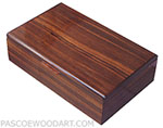 Handmade wood men's valet box - Decorative keepsake box made of Asian ebony