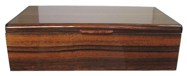 Asian ebony men's valet box - front view - Decorative men's keepsake box