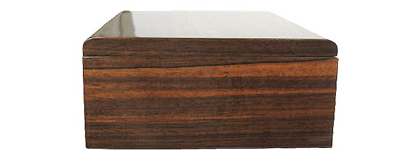 Handmade Asian ebony wood box - side view