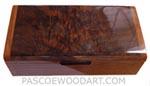 Handcrafted wood men's valet - Decorative keepsake box made of crotch walnut with pear ends
