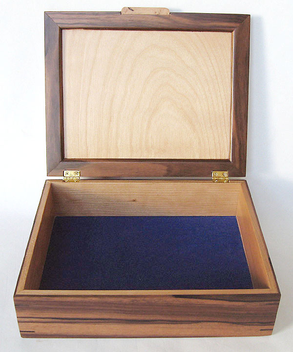 Decorative wood men's valet box - Handmade men's box - open view