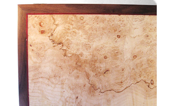 Spalted maple burl box top - close up - Decorative men's valet box