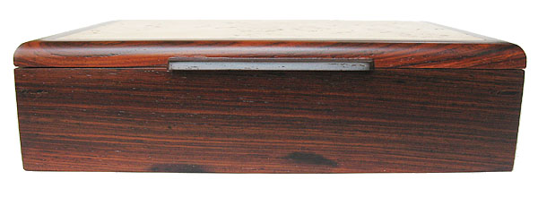 Decorative valet box, keepsake box - cocobolo front view