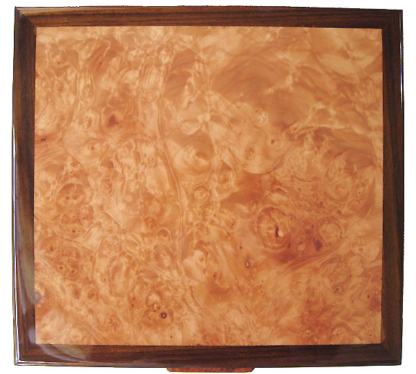 Maple burl box top - Decorative large men's valet box, keepsake box