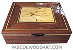 Handmade wood men's valet box, keepsake box made of claro walnut, spalted maple