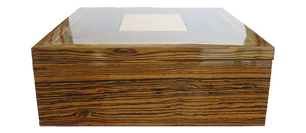 Large men's valet box - bocote wood side view