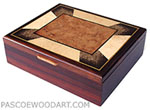 Handmade cocobolo men's valet box or keepsake box