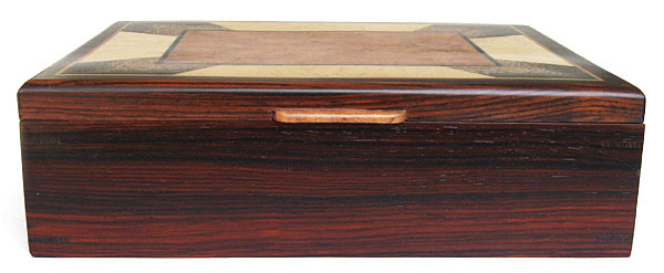Handcrafted wood men's valet -cocobolo  front view
