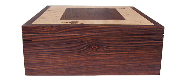 Cocobolo men's valet box - side view