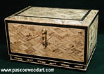Nara Hako - Keepsake Box - Spalted Maple Mosaic box - Handcrafted decorative wood box