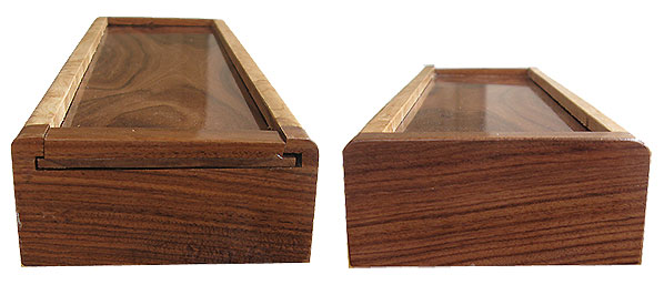 Bolivian rosewood pill box ends