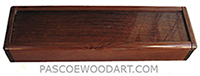 Handmade wood pill box - Decorative wood weekly pill box made of Honduras rosewood