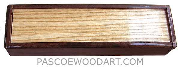 Handmade wood pill box - Decorative wood weekly pill box made of palisander with ash sliding top