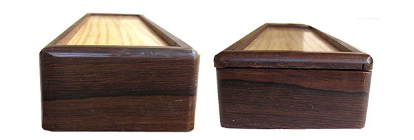 Pill box ends - Handmade wood weekly pill box