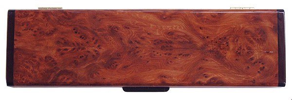 Redwood burl weekly pill box top - Handcrafted decorative wood 7 day pill organizer