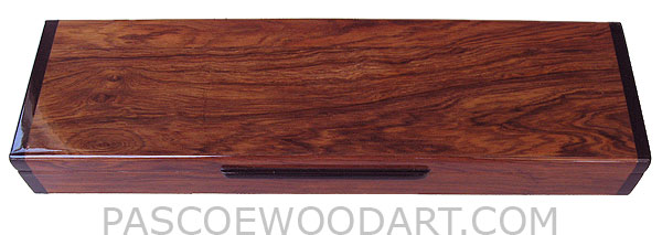 Handcrafted wood decorative weekly pill box - 7 day pill organizer made of Honduras rosewood with ebony ends