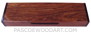 Handmade decorative wood weekly pill box - 7 day pill organizer made of Honduras rosewood with ebony ends