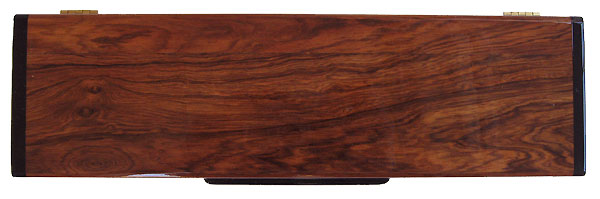 Handmade decorative wood weekly pill box - Honduras rosewood top view