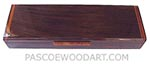 Handmade wood weekly pill box - Decorative wood 7 day pill organizer made of Indian rosewood with amboyna burl lift handle