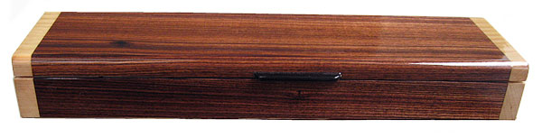 Handmade wood weekly pill box - Brazilian rosewood front view
