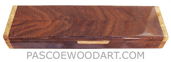 Handmade wood pill box - Decorative wood weekly pill box made of Claro walnut with maple burl ends