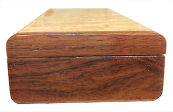 Rose wood pill box end - Handcrafted decorative weekly pill organizer