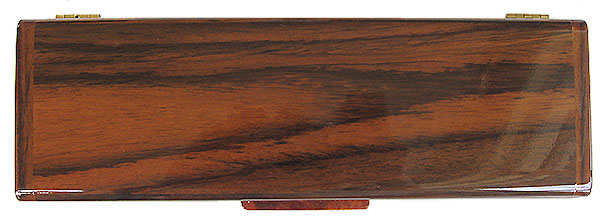 Asian ebony pill box top - Handmade decorative wood weekly pill organizer