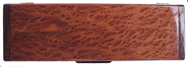 Birds eye redwood burl box top - Handmade wood decorative weekly pill box - 7 day pill organizer