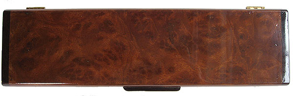 Camphor burl box top - Handmade decorative wood weekly pill box - 7 day pill organizer
