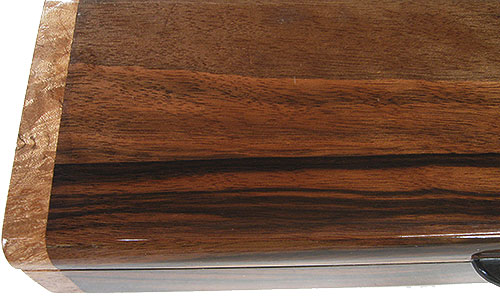 Indian rosewood box top close up - Handmade wood decorative weekly pill box