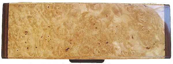 Maple burl weekly pill box top - Handmade wood decorative weekly pill box - 7 day pill organizer