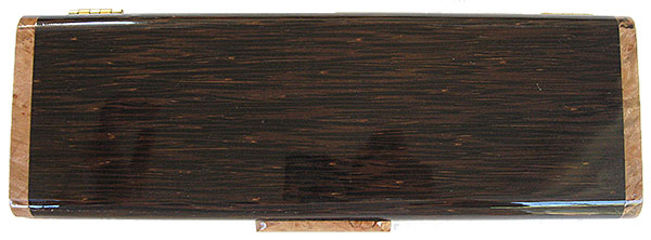 Black palm weekly pill box top - Handmade wood decorative weekly pill box - 7 day pill organizer