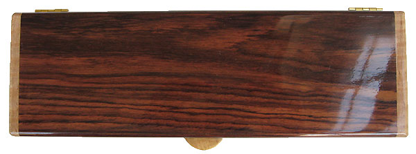 Indian rosewood pill box top - Handmade wood weekly pill organizer
